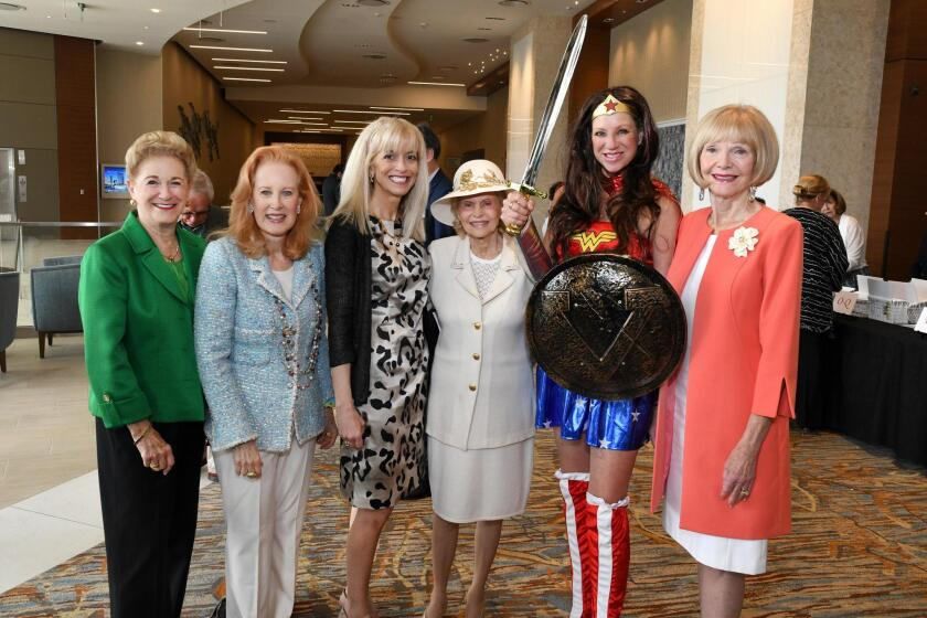 "Judy White, Marsha Shahon, Vickie Curd Ladt, Marjie Atwood, Kristi Pieper (AKA ""Wonder Woman""), Margaret Dudas"