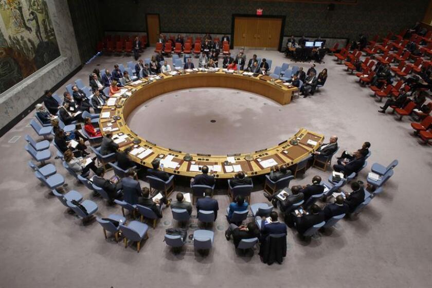 Vista general del pleno del Consejo de Seguridad durante una reunión en la sede del organismo en Nueva York (EE.UU.). EFE/Archivo