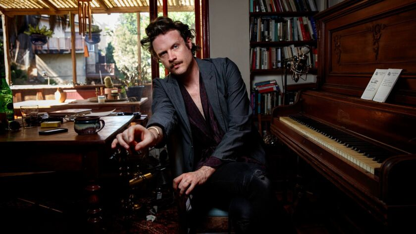 "LOS ANGELES, CA--MARCH 13, 2017-- Singer Joshua Tillman, known by his stage name ""Father John Misty,"