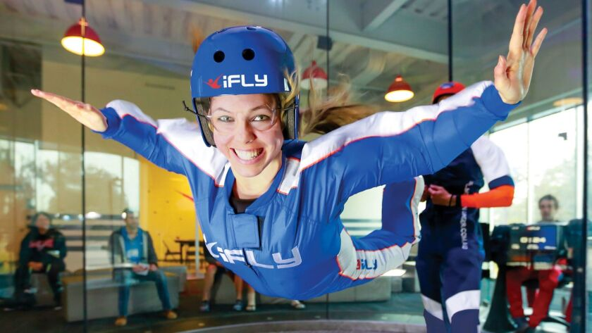 Indoor skydiving at iFly Hollywood. Credit: iFly Indoor Skydiving