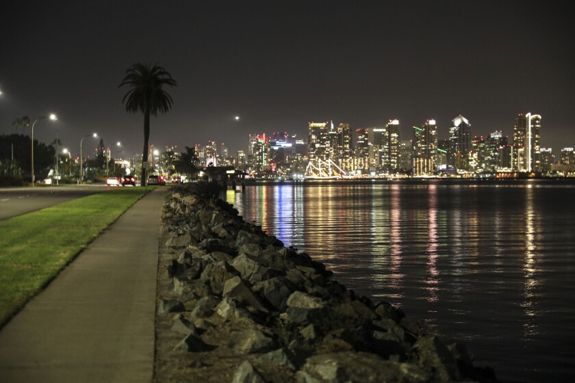 A general view of the San Diego skyline.