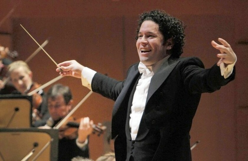 Gustavo Dudamel conducting the L.A. Philharmonic.