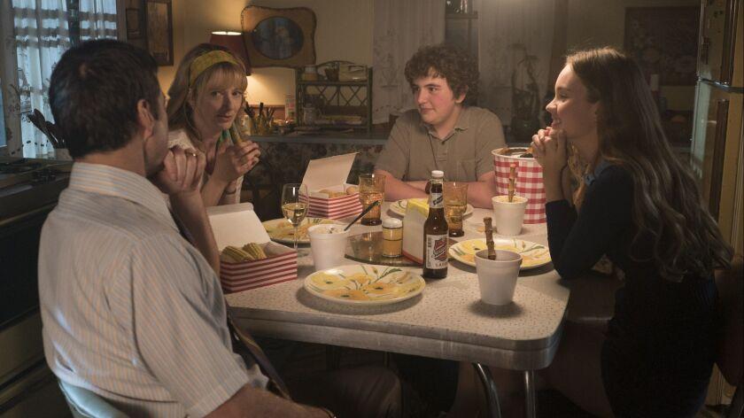 Luke Wilson, from left, Judy Greer, Blake Cooper and Liana Liberato. Great Point Media