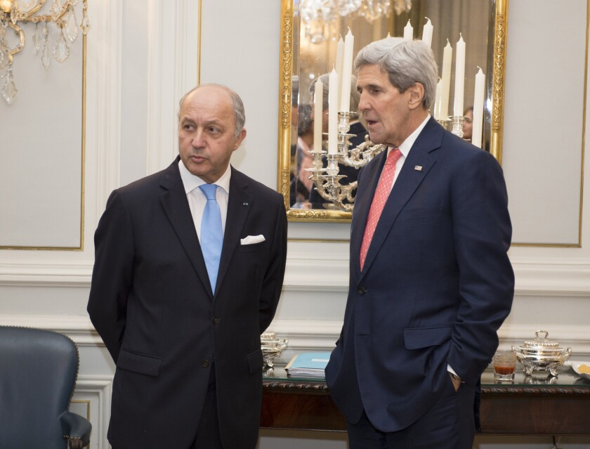 Laurent Fabius, John Kerry