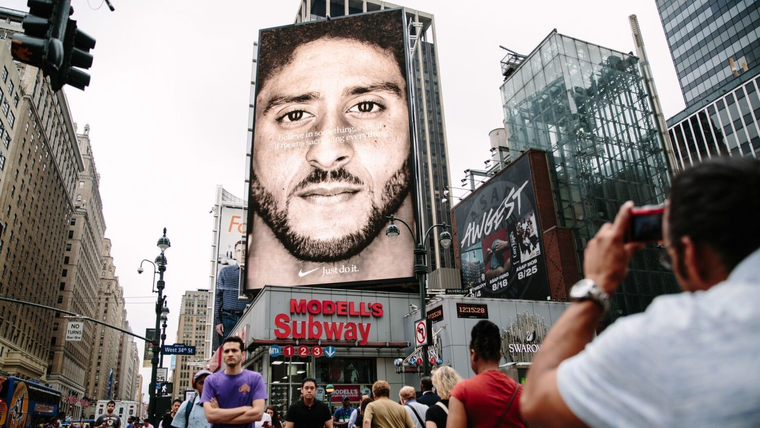 Some People Are Happy With Nike S Colin Kaepernick Ads Others Not So Much Los Angeles Times