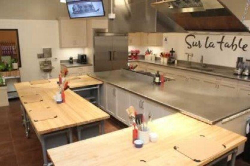 Sur La Table stores, including the new La Jolla location, include a kitchen area for cooking classes and demonstrations.