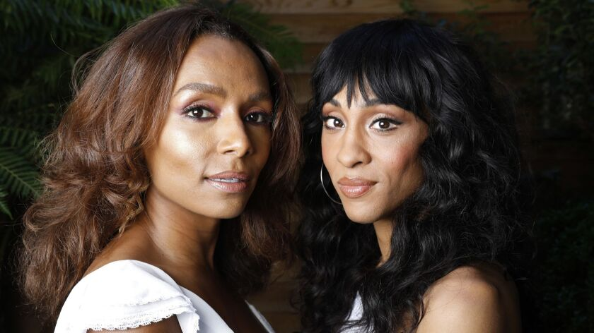 NEW YORK, NEW YORK--JULY 9, 2018--Writer Janet Mock and actress M.J. Rodriguez collaborate on the FX