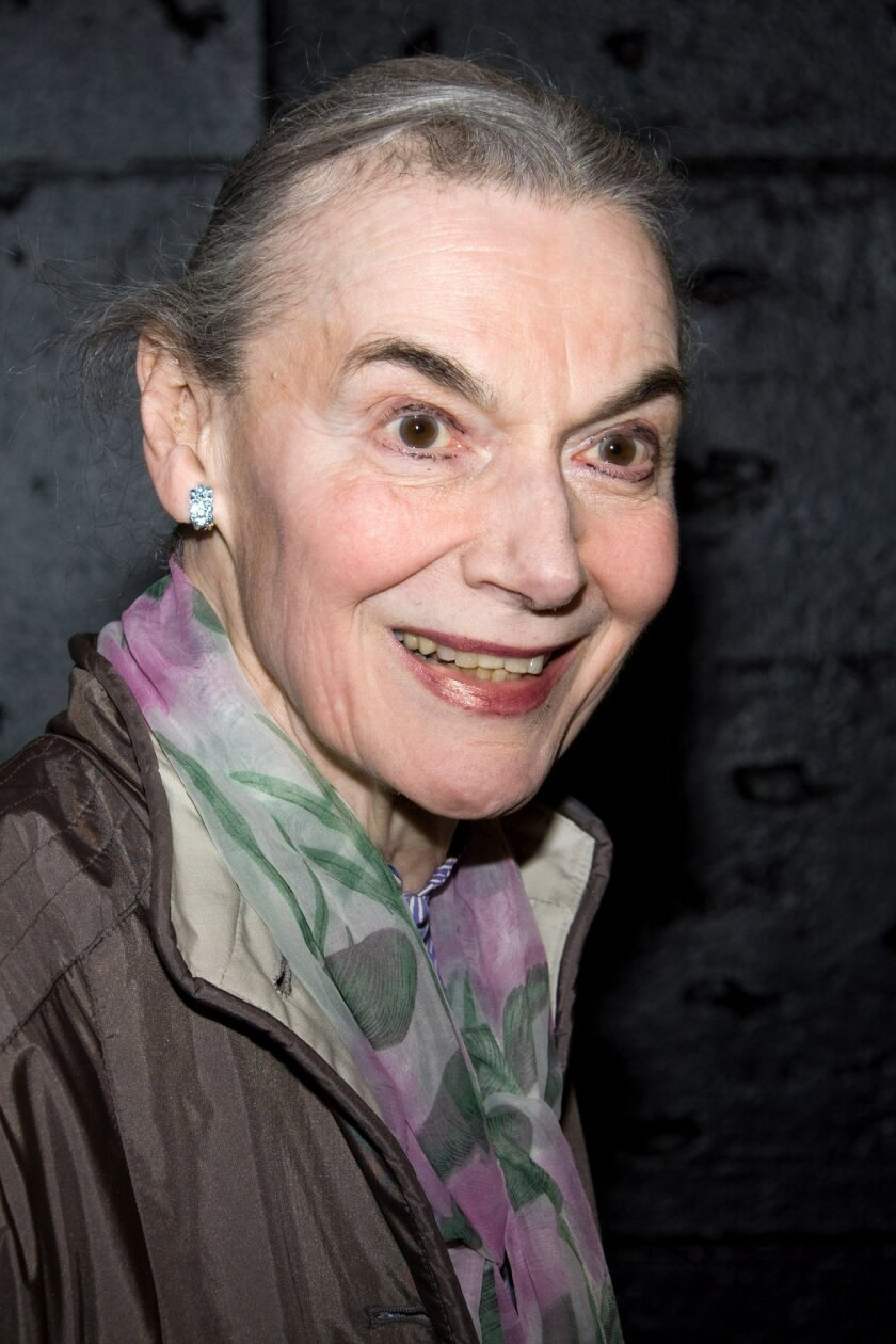 "FILE - In this April 20, 2010 file photo, Marian Seldes arrives at the opening night performance of the Broadway musical ""American Idiot"" in New York. Seldes, the Tony Award-winning star of ""A Delicate Balance"" who was a teacher of Kevin Kline and Robin Williams, a muse to playwright Edward Albee and a Guinness Book of World Records holder for most consecutive performances, died Monday, Oct. 6, 2014, at age 86. (AP Photo/Charles Sykes, file)"