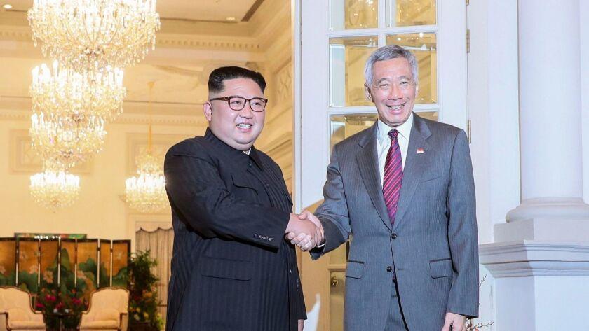 US North Korea Summit in Singapore - 10 Jun 2018