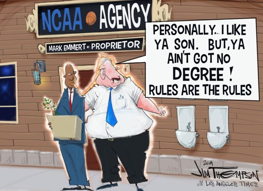 Mark Emmert enforces the rules.