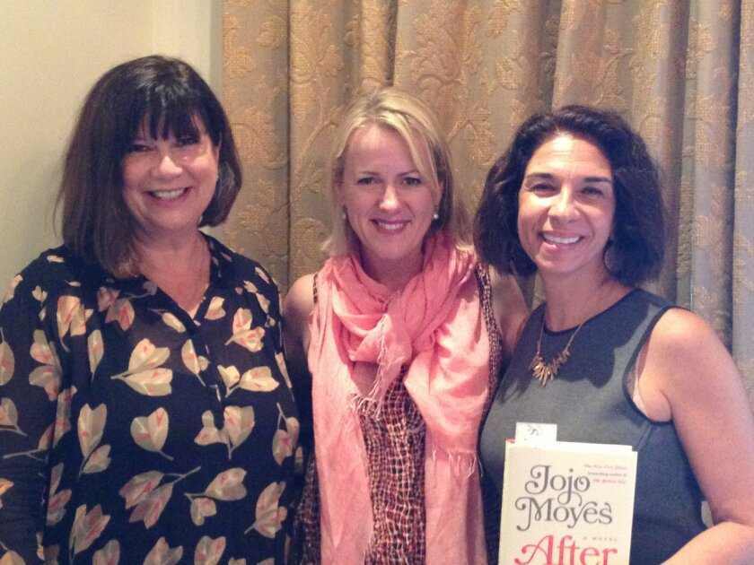 L-R: Julie Slavitsky of Warwick's, Jojo Moyes and Susan Appleby of the RSF Library Guild. Photo courtesy of Lois Alter Mark