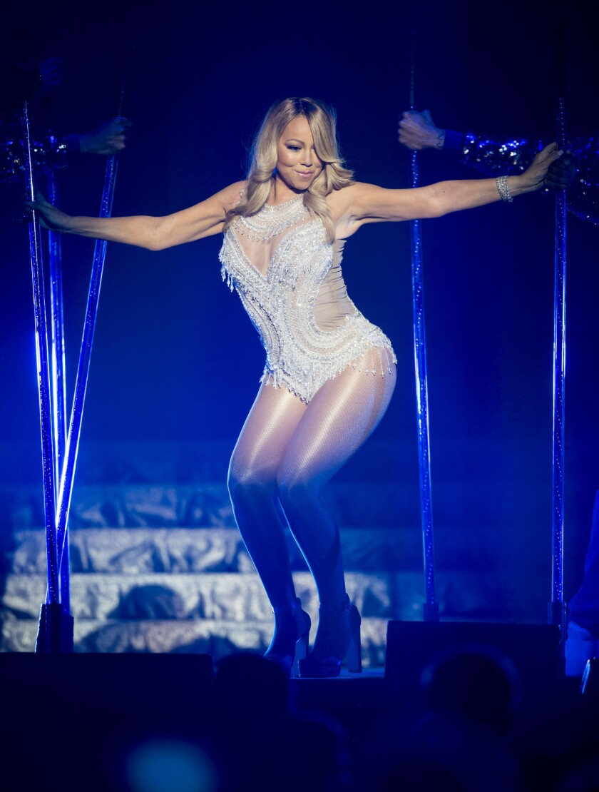 Mariah Carey performs in Glasgow, Scotland, on March 15, 2016.