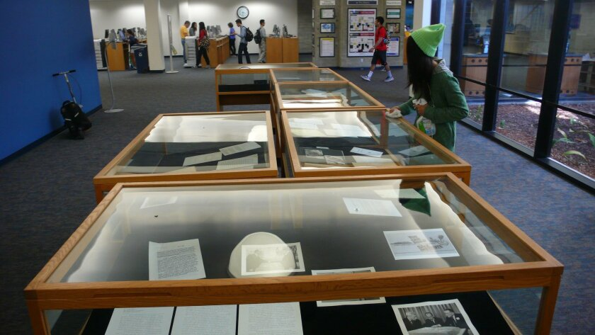 'The Legacy of Jonas Salk' exhibit is on display at UCSD's Geisel Library through Jan. 10, 2016, documenting Salk's scientific activities from the mid-1940s to his death in 1995.
