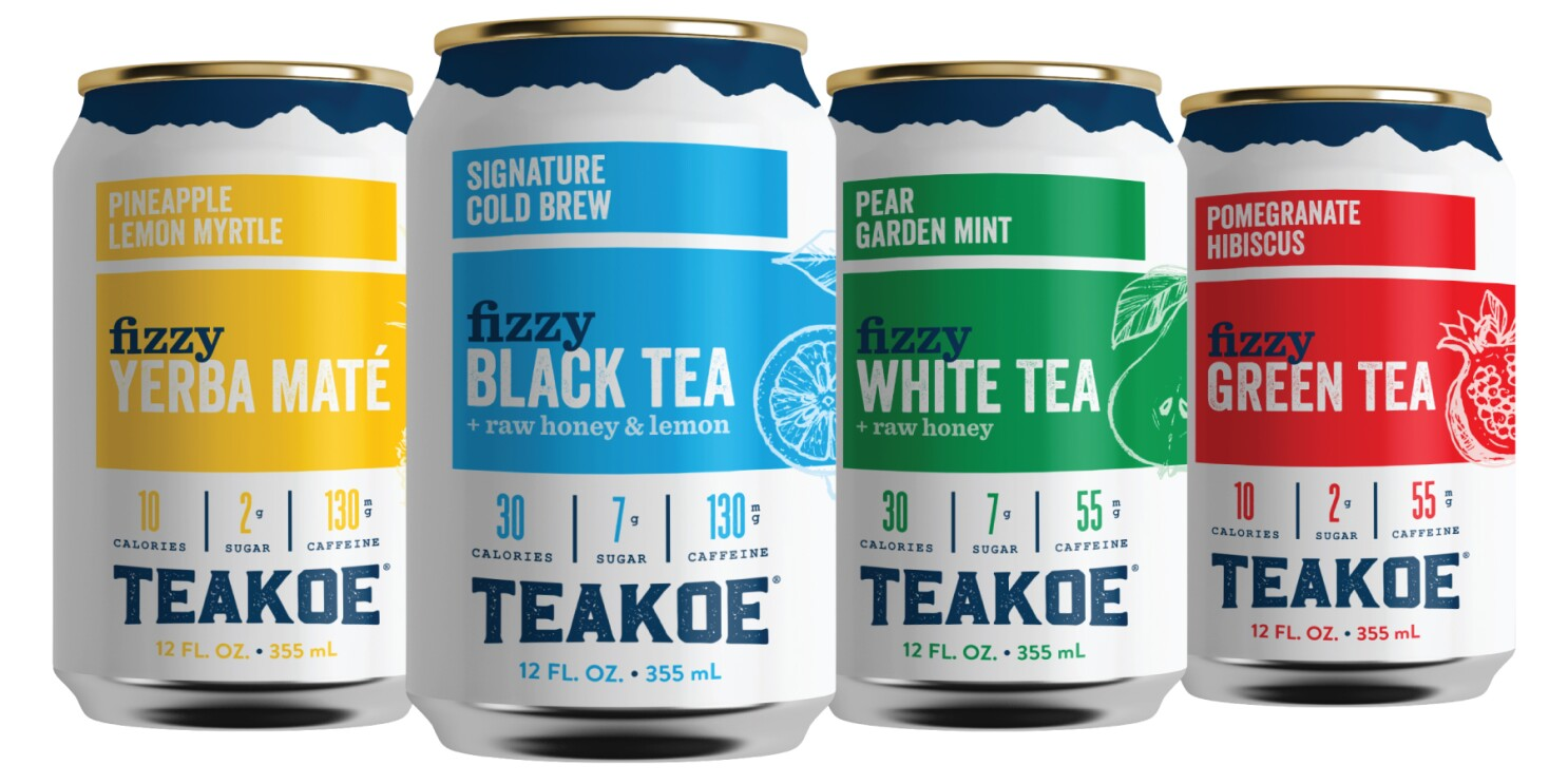 Fizzy, organic iced teas in four flavors