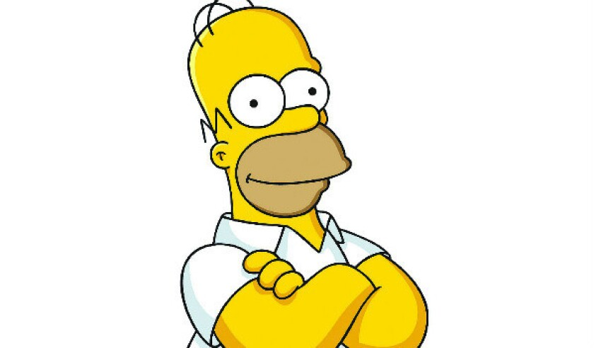 Homer Simpson was a brief stand-in for Emmys host at Sunday's ceremony.