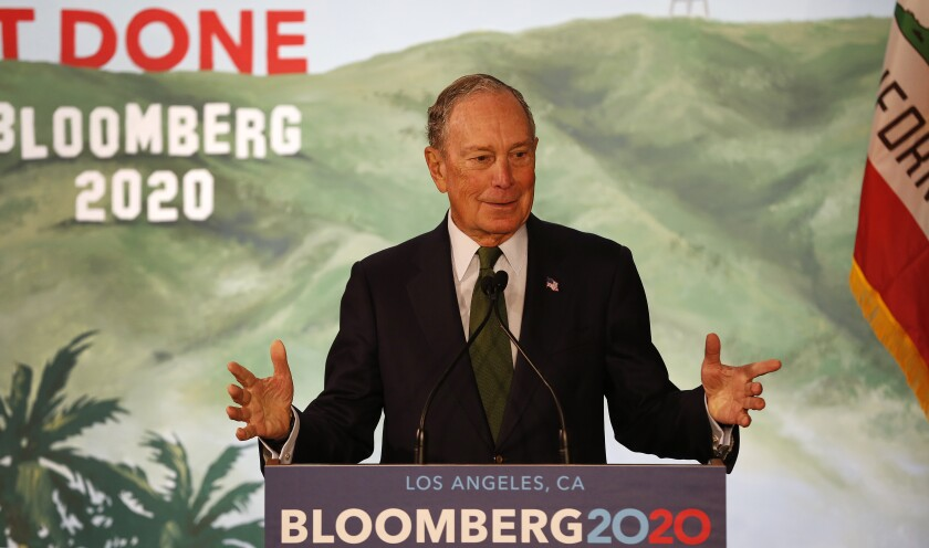 Michael Bloomberg speaks in L.A.