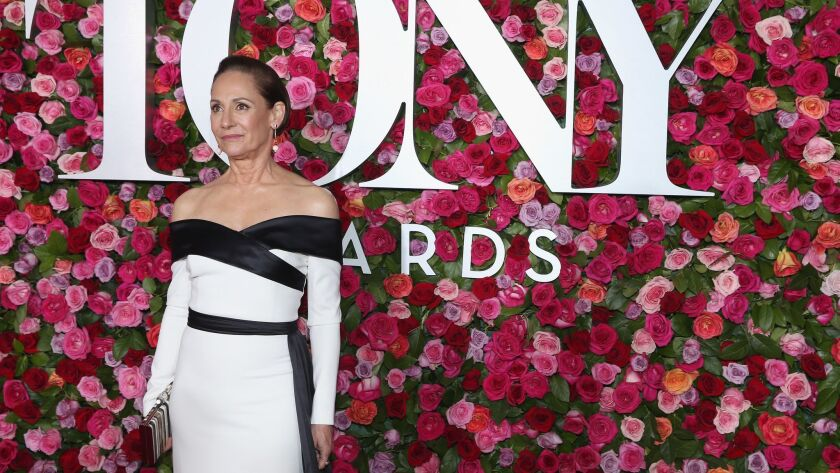 Laurie Metcalf arrives at the 72nd Annual Tony Awards at New York's Radio City Music Hall on June 10, 2018.