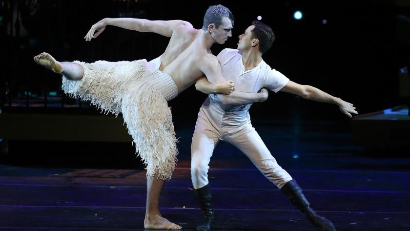 "A duet from Matthew Bourne's ""Swan Lake"""