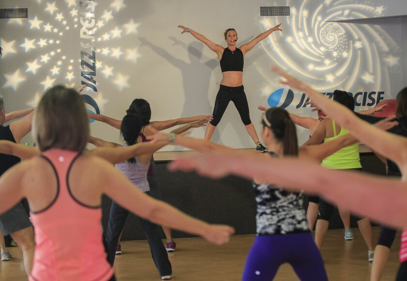 Jazzercise president Shanna Missett Nelson, leads a class called Dance Mixx on Friday at the Jazzercise studios in Oceanside, California.