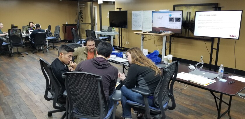 San Diego Code School holds classes on the weekends, allowing students to work part time during the business week.