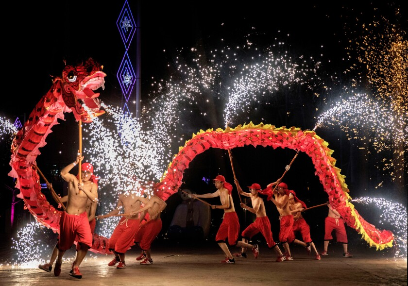 Chinese celebrate the Lunar New Year
