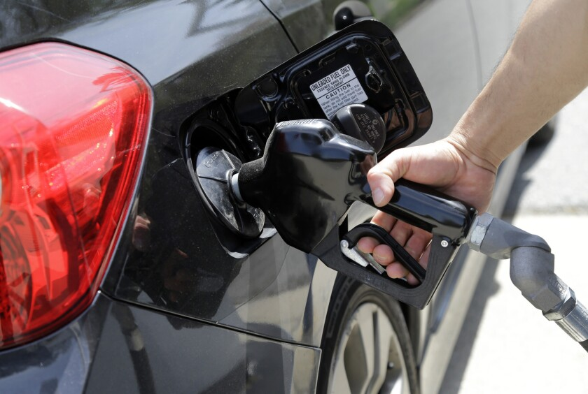 Gas prices in the Los Angeles-Long Beach area have fallen nearly 20 cents since a month ago, AAA says.