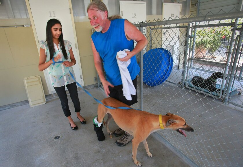 Poway resident Nikita Krishnan, 16, left, is the founder of Creature Comfort and Care, which makes splints and prosthetics for animals via 3D printing.