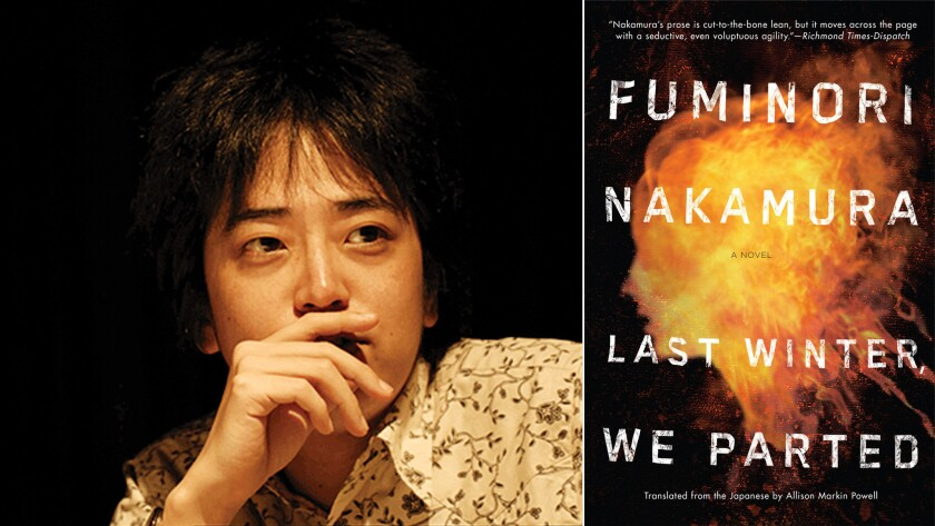"Fuminori Nakamura, author of the crime novel ""Last Winter, We Parted."""