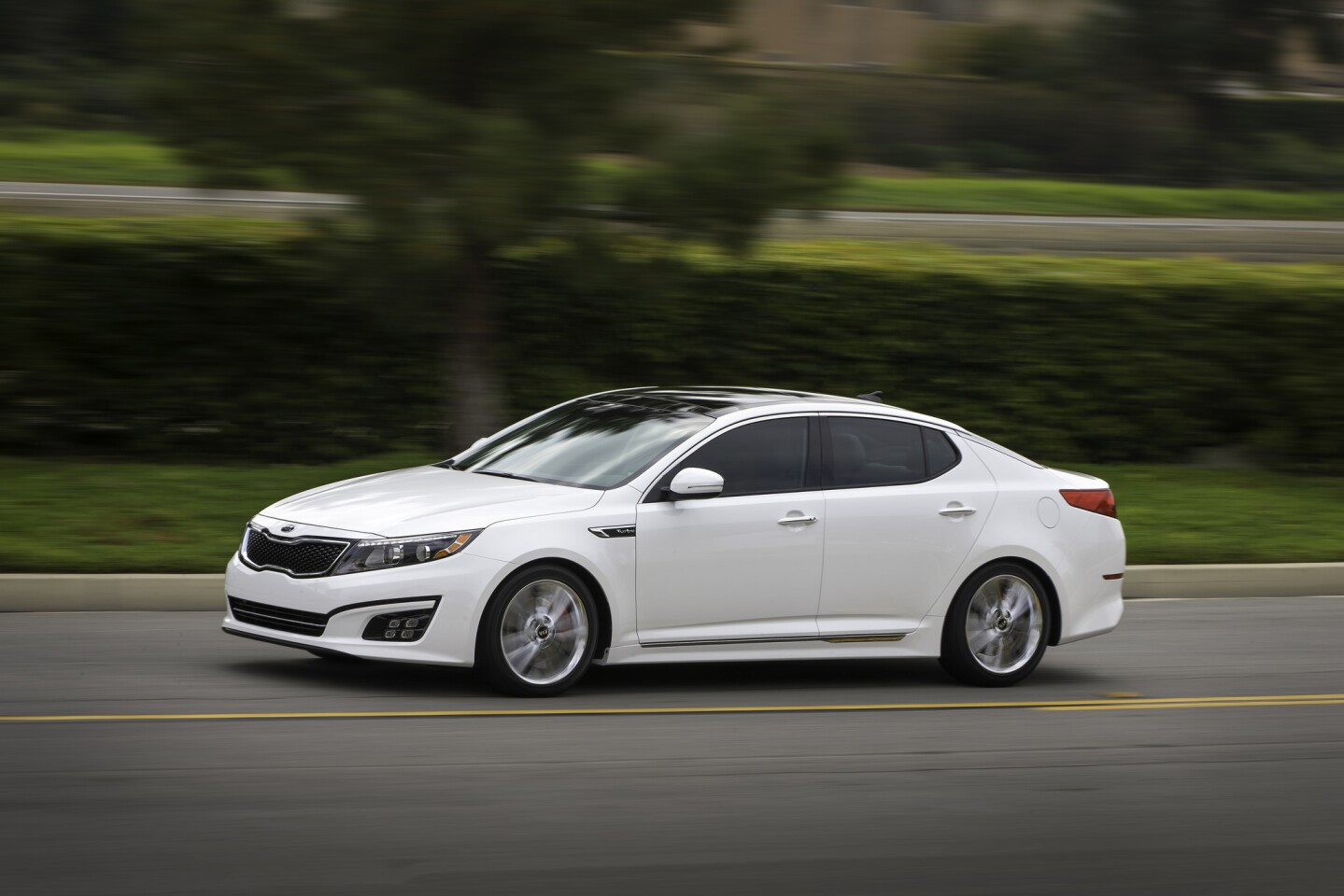 In 10th place we have the Kia Optima SX Turbo. Priced at $27,600, destination charge included, the sedan speeds up from zero to 60 mph in 6.5 seconds -- nothing to sneeze at.