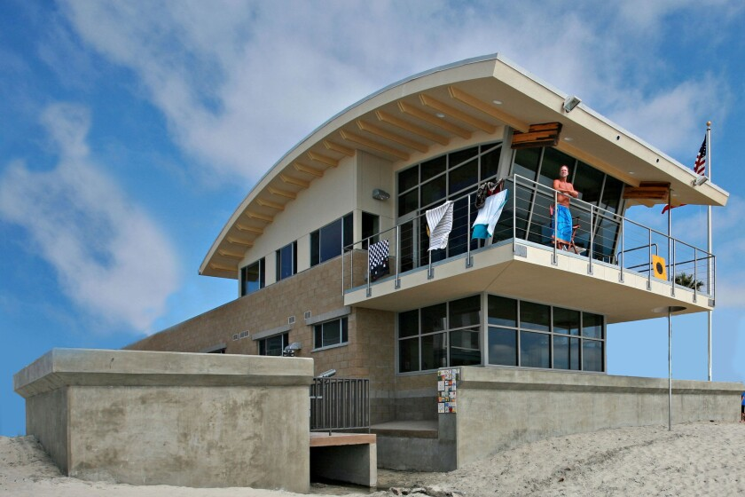 One of the donations the Del Mar Foundation made to the city was $30,000 for Beach Safety Center repairs.