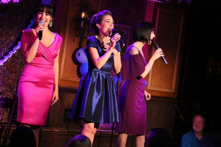 Courtney Reed, Laura Osnes and Susan Egan