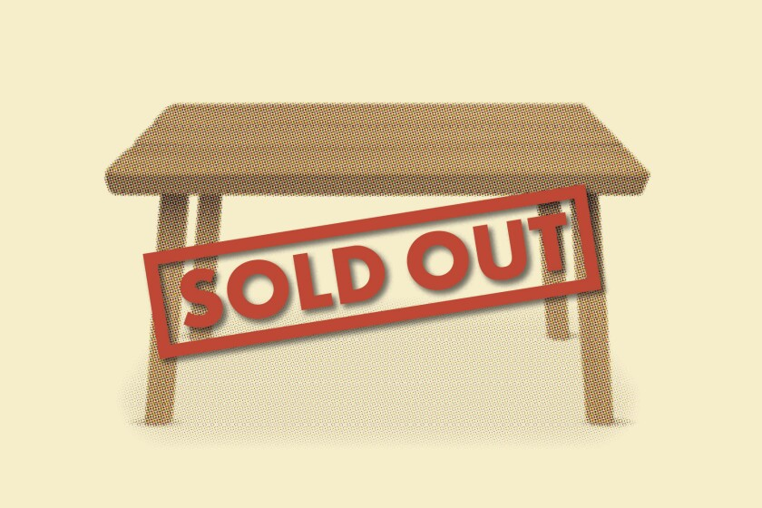 With so many kids doing distance learning, desks are selling out almost as quickly as they are restocked.