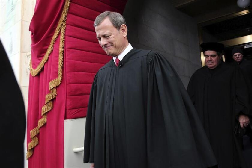 Fotografía del presidente del Tribunal Supremo, John Roberts. EFE/Archivo