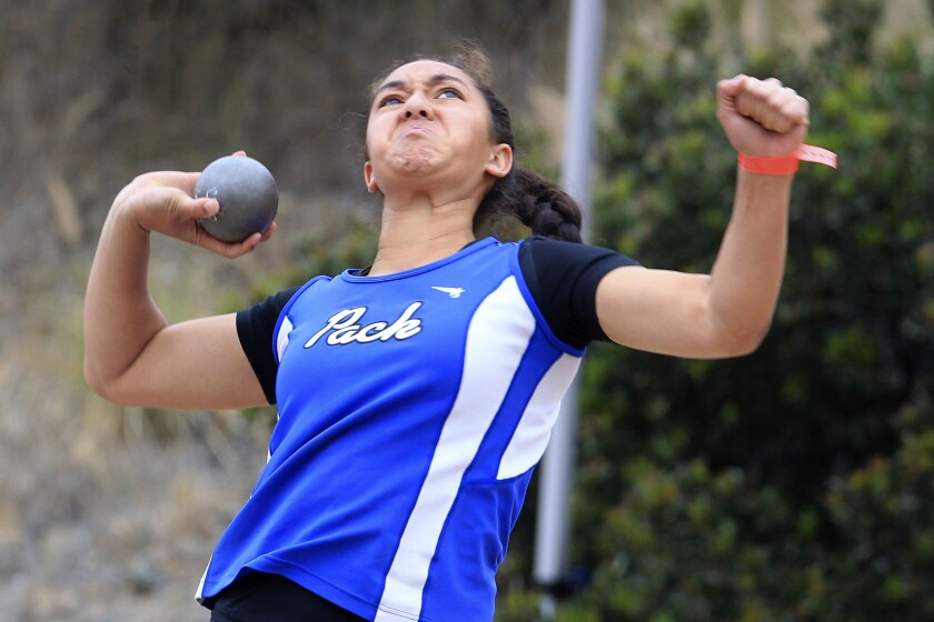 Brandy Atuatasi spent the last year hitting the gym, thanks to her dad, and the hard work has paid off with improved shot put distances.
