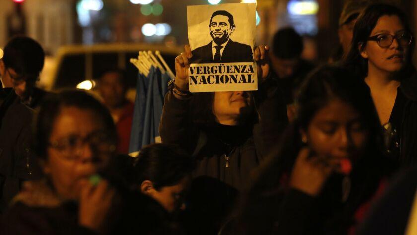 Crisis builds in Guatemala as its legislature seeks to