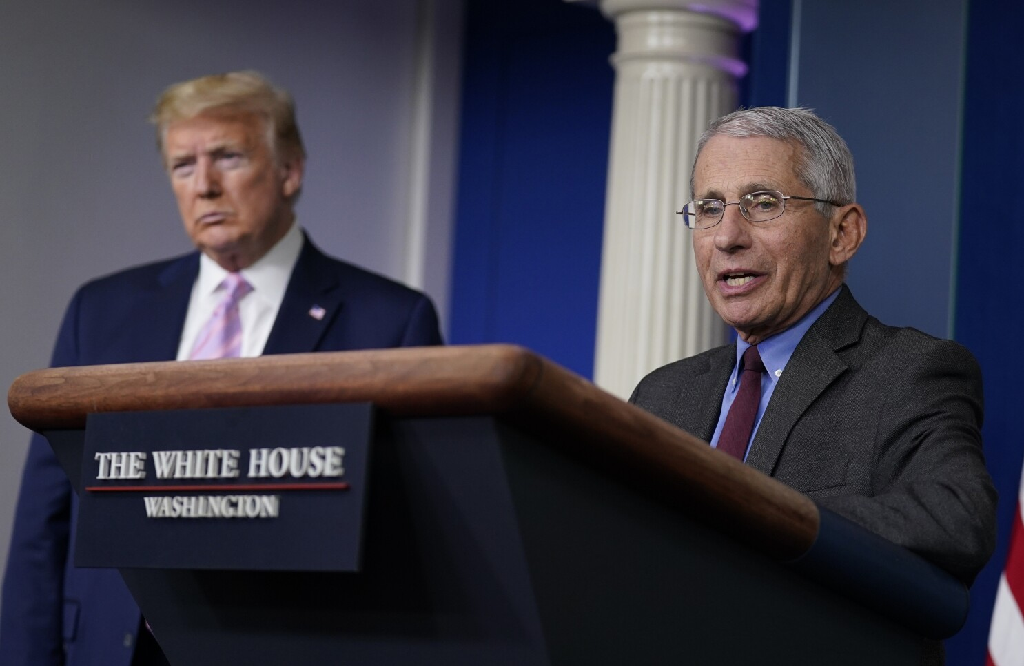 The shaming of Dr. Fauci at Trump's news conference from hell - Los Angeles  Times