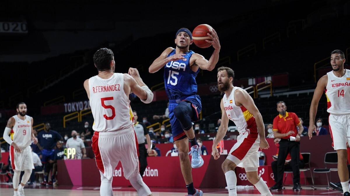 Olympics: U.S. men's basketball beats Spain, into semifinals - Los Angeles  Times