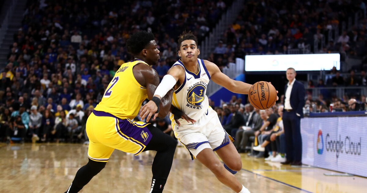 Young Lakers try to leave an impression in preseason finale against Warriors