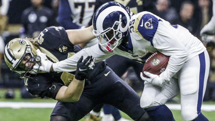 Los Angeles Rams at New Orleans Saints, USA - 20 Jan 2019