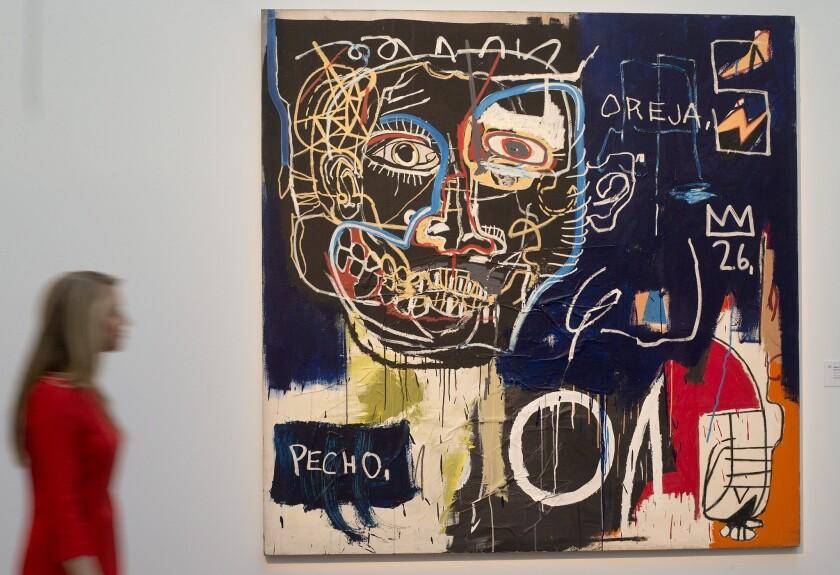 An untitled artwork by Jean-Michel Basquiat