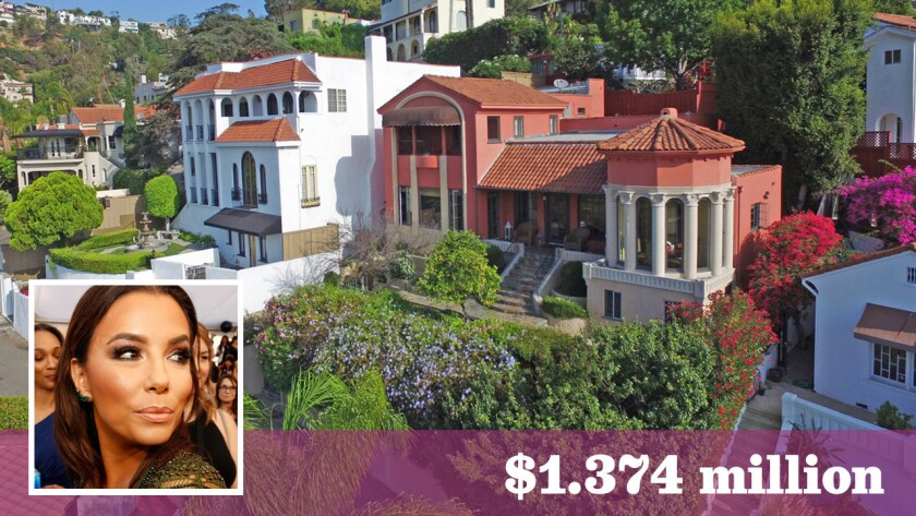 Actress Eva Longoria has sold a home in the Hollywood Hills for about $1.374 million.