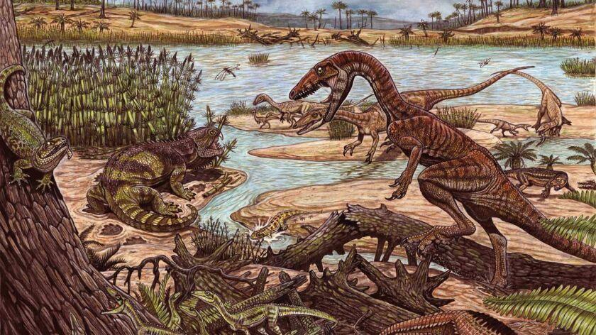 Dinosaurs and their precursors