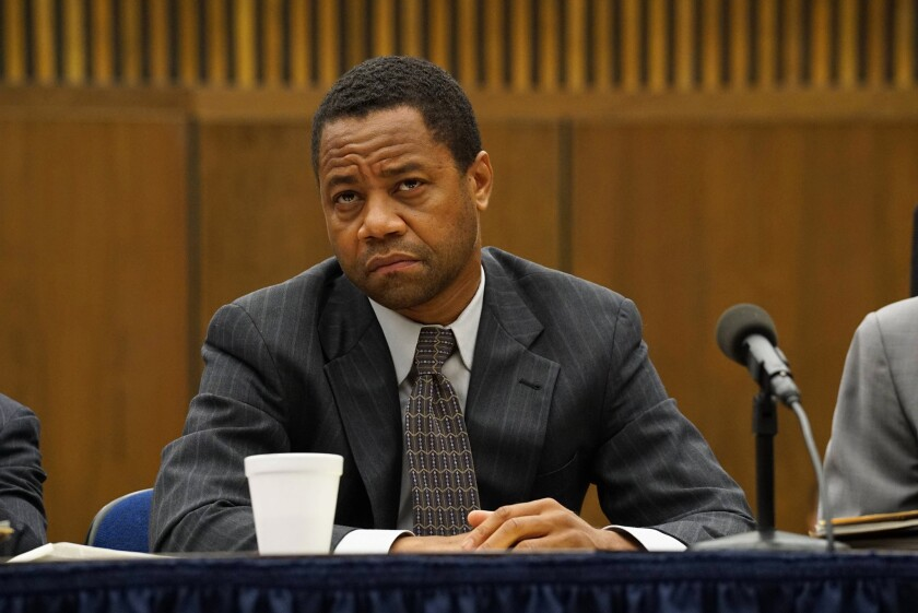 """Cuba Gooding Jr. as O.J. Simpson in """"The People v. O.J. Simpson: An American Crime Story."""""""