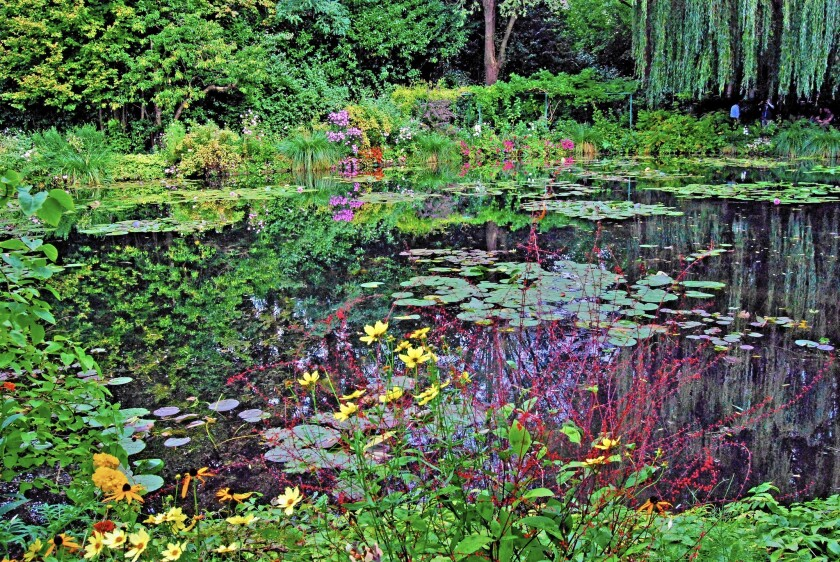 Artist Claude Monet would sit for hours and study the reflections in these lily ponds at his home in Giverny, France.