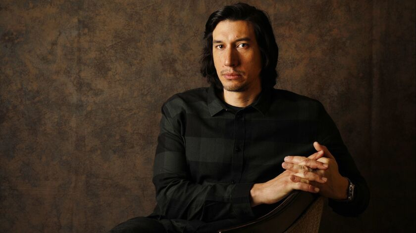 LOS ANGELES, CA - NOVEMBER 7, 2018 - Actor Adam Driver, who stars in BlackKlansman as the reluctant