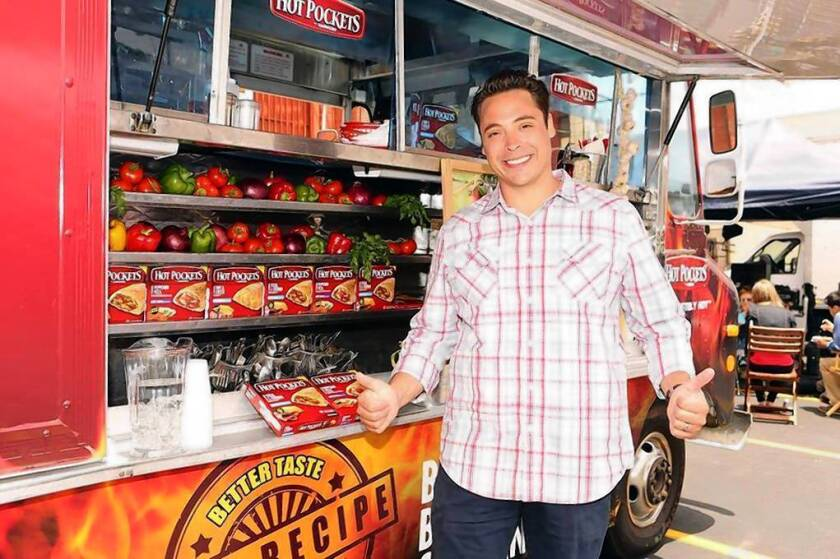 """Jeff Mauro, host of the Food Network series """"Sandwich King,"""" will be pitching Hot Pockets' updated offerings and may even design a sandwich himself."""