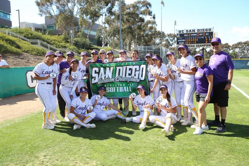 San Diego Division 3 high school softball championships played at UCSD.  El Capitan Vaqueros vs EC Southwest Eagles