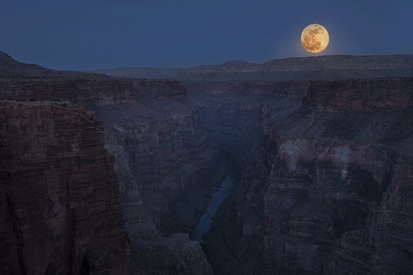 The 2012 Supermoon over the Grand Canyon.