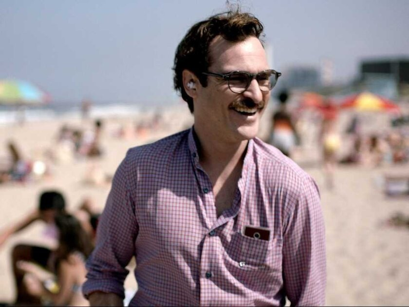 "In the movie ""Her,"" Joaquin Phoenix portrays Theodore, a lonely man who has a serious romantic relationship with the operating system of his smartphone."