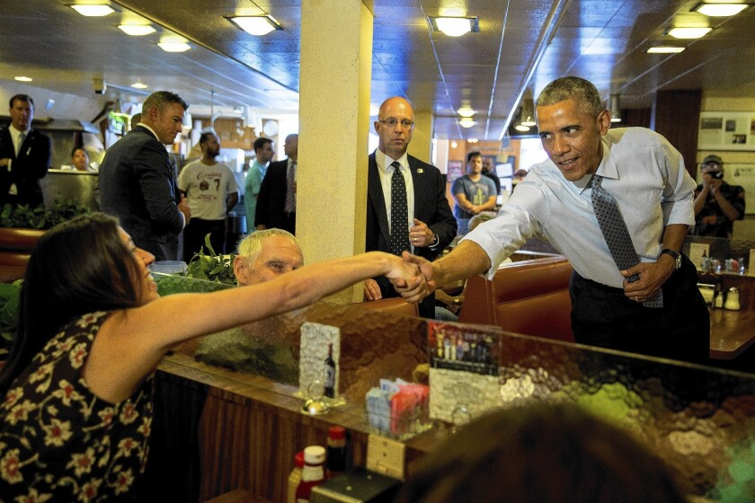 Obama at Canter's